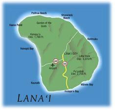 Lanai Hawaii | Lanai Hawaii Map with the Four Seasons Lanai