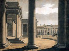 'The Portico of the Parliament House, Dublin' (James Malton)
