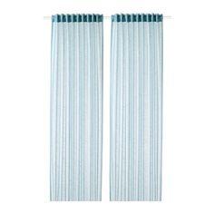 GJERTRUD Sheer curtains, 1 pair Grey-blue IKEA