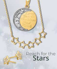 Make someone's wishes come true with this Simply Starz® collection of star-themed jewelry styles. #QualityGold #earrings #accessories #jewelry #stars #Silver #Gold #Trendy #StarJewelry