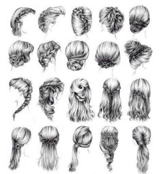 Another 15 Bridal Hairstyles & Wedding Updos Braids. Pretty Drawings, Cool Art Drawings, Pencil Art Drawings, Art Drawings Sketches, Hair Drawings, Drawing Art, Drawing Ideas, Girl Hair Drawing, Hair Styles Drawing