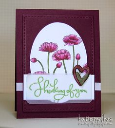 Thinking of You - {Seize the Sketch Special People, Poppies, Thinking Of You, Stampin Up, Card Ideas, Catalog, Sketch, Crafty, Paper