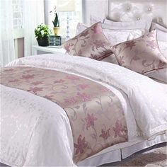 hot sale weddings queen size bed runner satin table runners for hotels