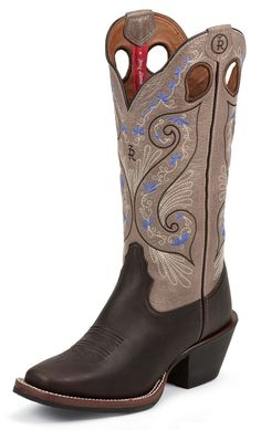 Tony Lama 3R Series Bridle Brown Shiloh Cowgirl Boots - Square Toe available at #Sheplers