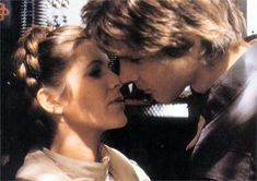Happy Valentine's Day, especially to these two! Michael Vartan, Happy Star Wars Day, Han And Leia, George Lucas, The Empire Strikes Back, Harrison Ford, Princess Leia, Best Couple, Fangirl