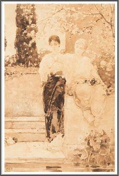 Vasily Kotarbinsky (1849-1921), Pensives (Deux Femmes romaines).