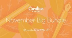 Check out November Big Bundle on Creative Market, blog themes, fonts, pictures, social media packs, everything you need to start a blog, affiliate link #FinancePictures
