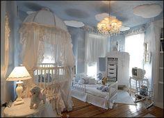 Angel Theme Decorating Ideas Celestial Style White Nursery Sky Royal Fairy