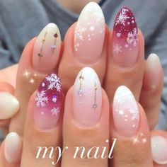 If you have a wide nail plate, choose oval shape of nails – this will visually lengthen them. latest nail art designs galleryelegant nail designs for short nails holiday nail stickers nail art stickers at home nail art strips Winter Nail Art, Winter Nail Designs, Christmas Nail Designs, Winter Nails, Nail Art Designs, Nails Design, Winter Makeup, Winter Art, Winter Snow