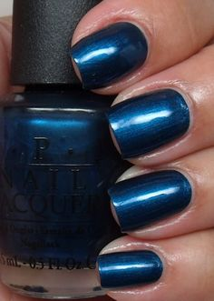 Unfor-Greta-Bly Blue OPI- to go with gold for my Pacer Pedicure! (I am attracted to the nail colors with the awesome names!)