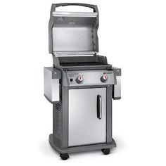 Weber Spirit S-210 NG Gas Grill - Stainless, Silver