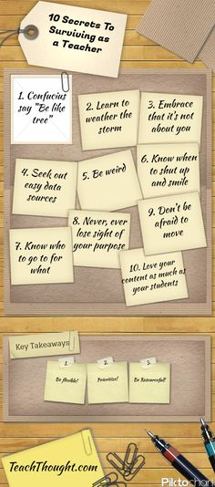 Ten Secrets to Surviving as a Teacher~ Great article with common sense strategies!