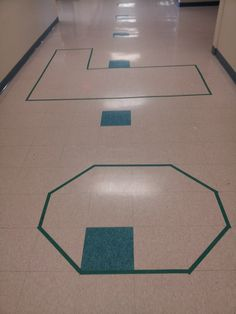 Area and Perimeter using square tiles on the floor. Great idea and totally works for the little ones.