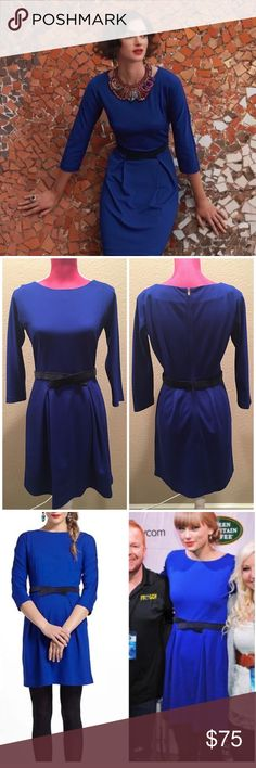 Anthropologie Blue Pleated Ponte Dress Gorgeous dress by girls from savoy. Excellent condition. Worn by taylor swift! Offers welcome through offer tab. No trades. 11208161111 Anthropologie Dresses