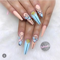 """2,719 Likes, 18 Comments - ❤️ Passion Nails ❤️ (@nailslove.it) on Instagram: """"by @merlin_nails  #nails #nail #fashion #style #TagsForLikes #cute #beauty #beautiful #instagood…"""""""