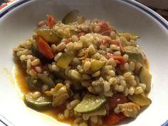 In cucina con la zia Concy: Minestra di orzo, vongole e zucchine