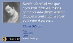 Frase Khalil Gibran