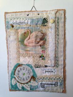 Art quilt fiber art mini quilt fabric art fabric by SuzanneInOhio