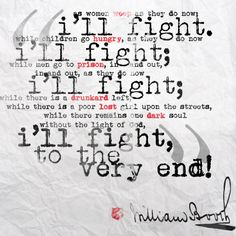 "Popular ""I'll fight..."" quote by William Booth."