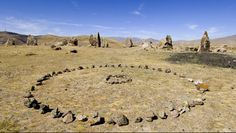 The Armenian Stonehenge predates that on the British Isles by 4500 years but it's origins and purpose is equally mysterious.