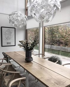 """843 Synes godt om, 5 kommentarer – BO BEDRE (@bobedredk) på Instagram: """"Vi er helt forelskede i disse fantastiske lamper, der funkler henover det rustikke træbord og…"""""""