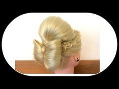 Pancaked Hair Bun of Braids / Hair Tutorial / Hair Glamour - YouTube