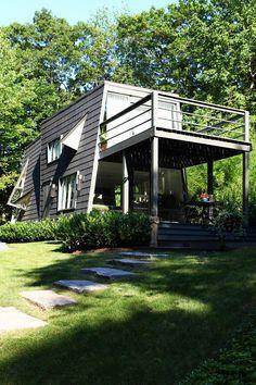 objekt wohnhaus holzfassade von cape cod produkt rhombusleiste kieselgrau farbige. Black Bedroom Furniture Sets. Home Design Ideas