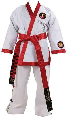 Martial Arts Karate BLACK Belt  Satin with RED Embroidery Unique Dojo Dan Sen
