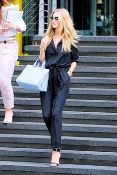 What are three easy ways to wear a jumpsuit? via @Who What Wear
