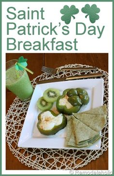 Fun St. Patrick's day Breakfast!  #breakfast