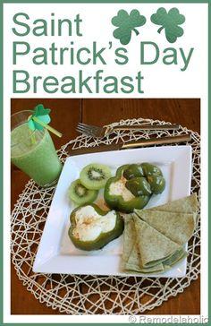 Fun St. Patrick's day Breakfast!  #breakfast