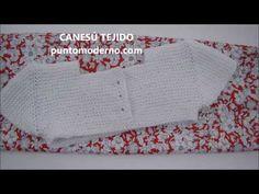 CANESÚ PARA VESTIDO O PELELE DE BEBÉ - YouTube Knitting For Kids, Baby Knitting, Crochet Fabric, Knitting Videos, Crochet Designs, Baby Items, Knitting Patterns, Kids Fashion, How To Make