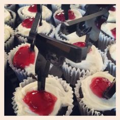 Customised cupcakes for a Quentin Tarantino party