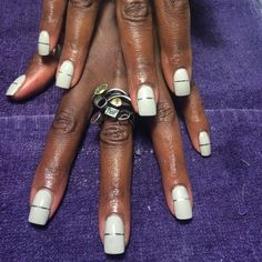 Day 23: Linear & Lavender Nail Art - - NAILS Magazine