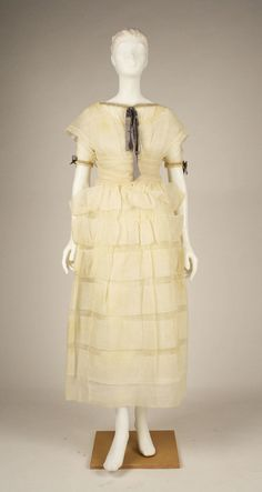 Afternoon Dress, Attributed to Jeanne Lanvin (French, 1867–1946), made by Henri Bendel (American, founded 1895), Attributed to House of Lanvin (French, founded 1889): 1919, French, silk, cotton.