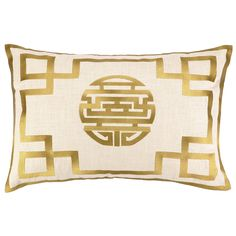 DL Rhein Double Happiness Citron Embroidered Pillow @LaylaGrayce