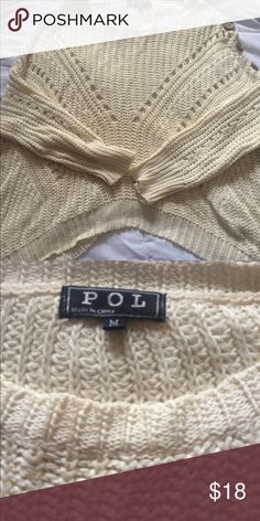 Oversized Cropped Knit Sweater! Great condition! Sweaters