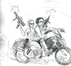 Daryl Dixon and Carol Peletier :) hehe my ship