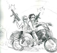 Daryl Dixon and Carol Peletier :) hehe my ship