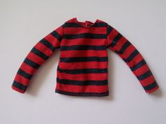 Red & Black long sleeved T-shirt for Taeyang doll