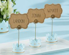 Little Prince Crown Place Card Holders from HotRef.com