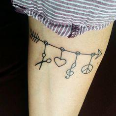 I did it ..my first tattoo Thank you www.jonnys-tattoo.de #firsttattoo #tattoo #Schere #Liebe #Musik #Frieden #scissors #love #music #peace