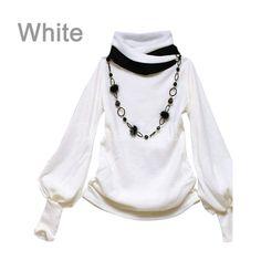 Women's Lantern Sleeve Long-sleeved T-shirts-Tees / T-shirt-Shop DRESSLINK.COM - The world's premier online fashion destination | DRESSLINK.COM | Women's designer clothes, shoes, bags & accessories