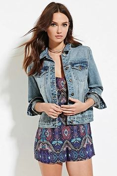 Buttoned Denim Jacket | Forever 21 #thelatest