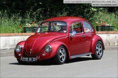 Beetle on Fuchs wheels Vw Super Beetle, Beetle Bug, Vw Beetles, Volkswagen Models, Vw Cars, Cute Cars, Porsche, Classic Cars, Hot