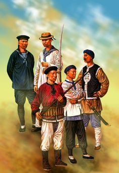 Chinese troops, Late Qing Dynasty