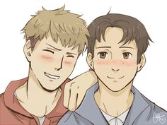 Attack on Titan ~~ Blushing boys are beautiful :: Marco and Jean