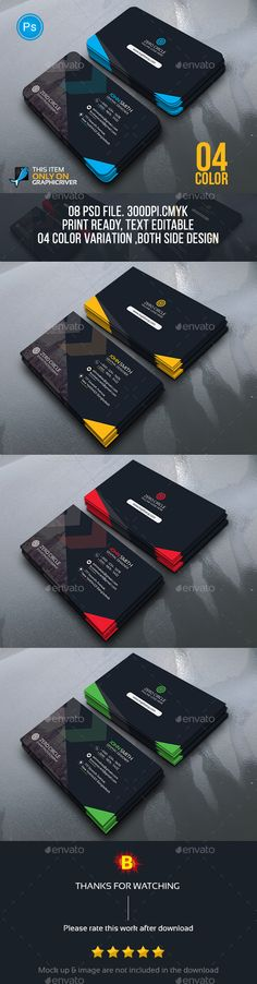 Abstract Business Card Template PSD #design Download: http://graphicriver.net/item/abstract-business-card/13922954?ref=ksioks
