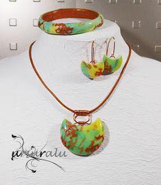 ur-polymer clay Washer Necklace, Pendant Necklace, Polymer Clay, Handmade, Jewelry, Hand Made, Jewlery, Jewerly, Schmuck