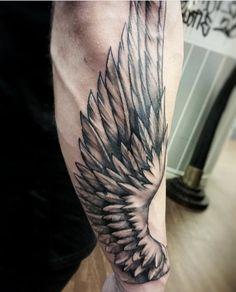 Wing design #1 Arrow Tattoos, Mom Tattoos, S Tattoo, Chest Tattoo, Sleeve Tattoos, Body Art Tattoos, Tattoos For Guys, Tribal Tattoos, Forearm Wing Tattoo